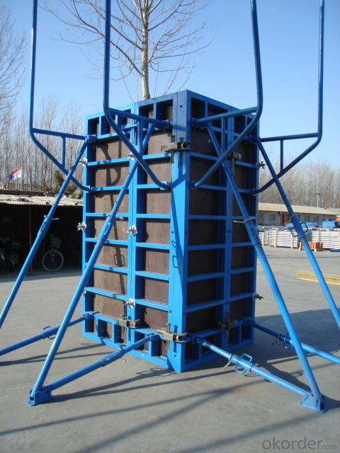 Adjustable Steel Frame Formworks for Flat Concrete Surface for Column Construction