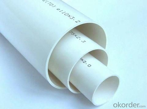 PVC Pipe with 110MM 0.63-1.6MPa GB/T10002.1-2006 on Sale
