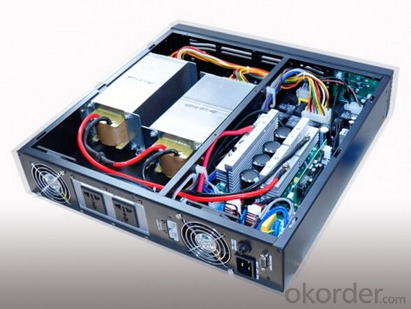 1KVA Rack / Tower Puresine Wave Online Extensible G-sensor LCD UPS 1