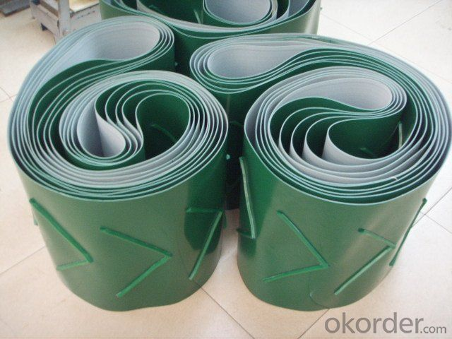 Logistics Application PVC Conveyor Belt Flat PVC PU Belt