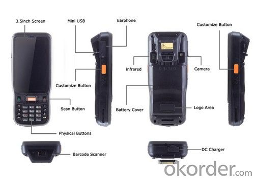 Samsung S7898 Dual Core 1.0GHz IP65 Rugged Handheld PDA
