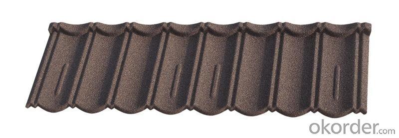 Waterproof Stone Chip Coated Steel Roof Tiles