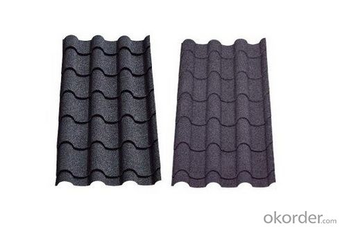 Waterproof Stone Chip Coated Steel Roof Tiles