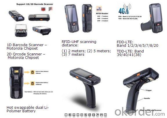 Rugged Handheld PDA Waterproof/Dustproof IP65 Devices