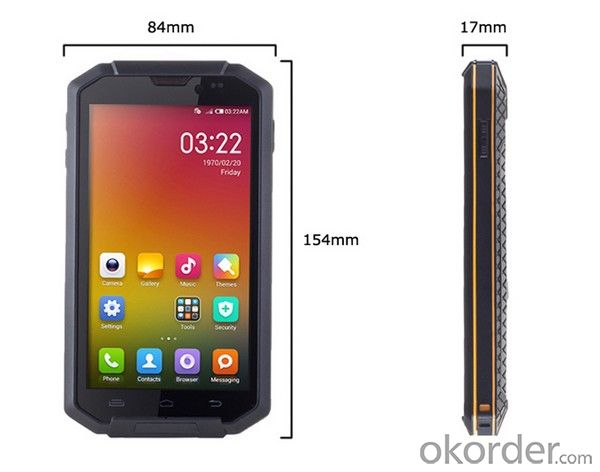 5.0 Inch HD 16000K colors, 1280*720px Android Rugged NFC Smartphone for Industrial Usage