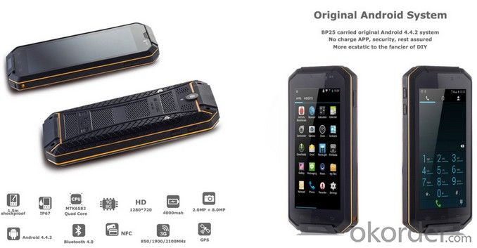 5inch Android Rugged NFC Smartphone for Industrial Usage