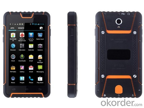 5.0 Inch HD 16000K colors, 1280*720px Rugged  4G Smartphone