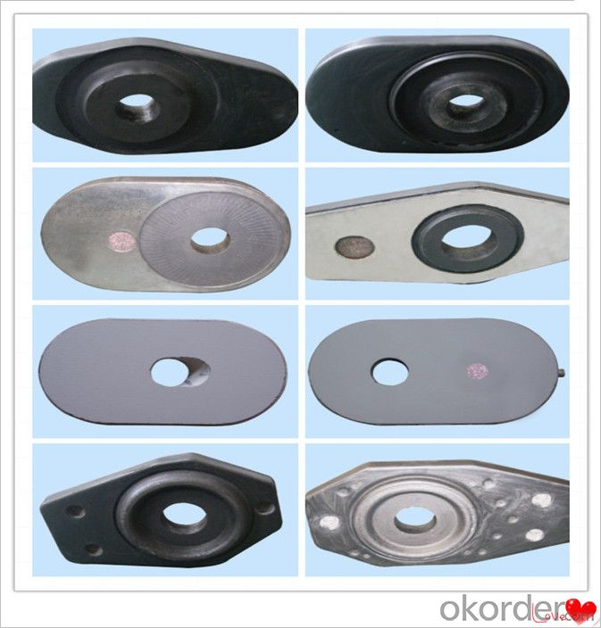 Control Roughing Slag and Flowing Refractory Slide Gate Plate for Steel Casting Erosion Resistance