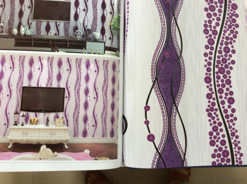 PVC Wallpaper Popular Modern Design Interior Decoration PVC Luxury Wallpaper