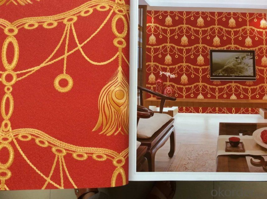 PVC Wallpaper 2015 America Modern Design Wallpaper Made in China Manufacture