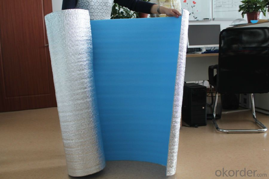 Insulation material XPE with Aluminum Foil Facing