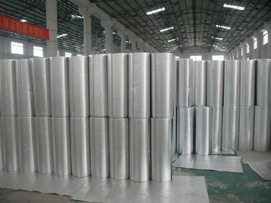 Fireproof Insulation Sheet with Two sides Aluminum Foil and Bubble Core