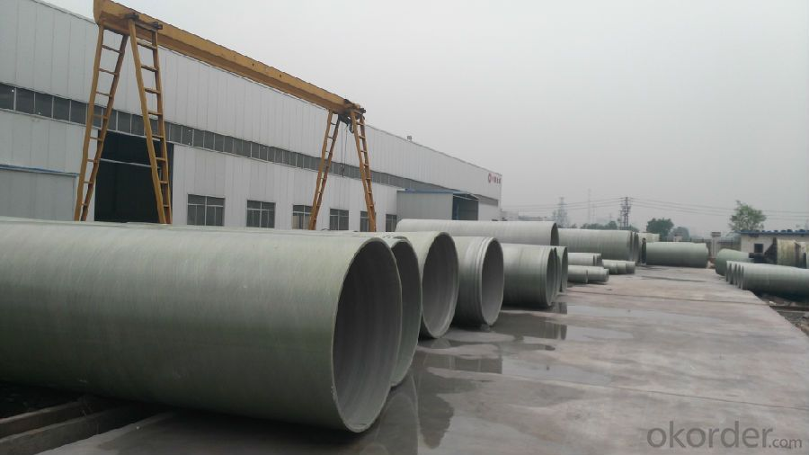GRE Pipe High Pressure Filament Winding Underground Pultruded