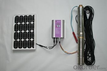 Solar Submersible Water Pump with DC and AC