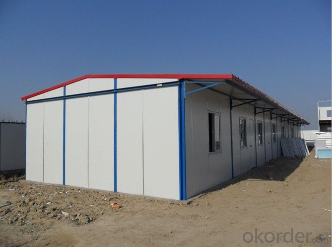 Sandwich Panel House Made in China One Story Flat Top