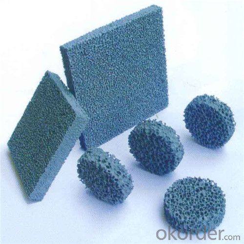 Porous Foam Ceramic Filter (Material:Alumina , Silicon carbide,Zirconia, Magnesia)