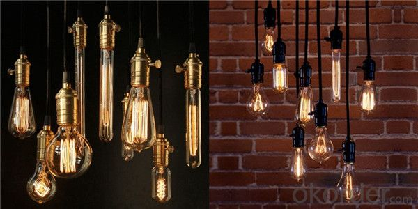 G80 D80mm L118mm Round Shape Edison Bulbs Pendant Lamps