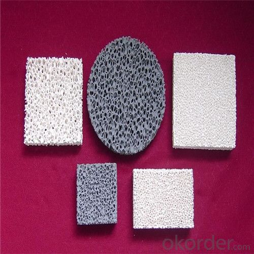 Ceramic Foam Filter Type And Alumina Ceramic Material Ceramic Filters