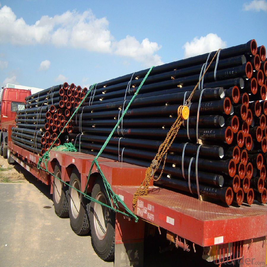 Ductile Iron Pipe ISO2531,EN545 T type/K type/Flange type Length: 6M
