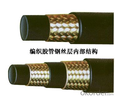 DIN EN853 1SN Steel Wire Braided High Pressure Hydraulic Hose