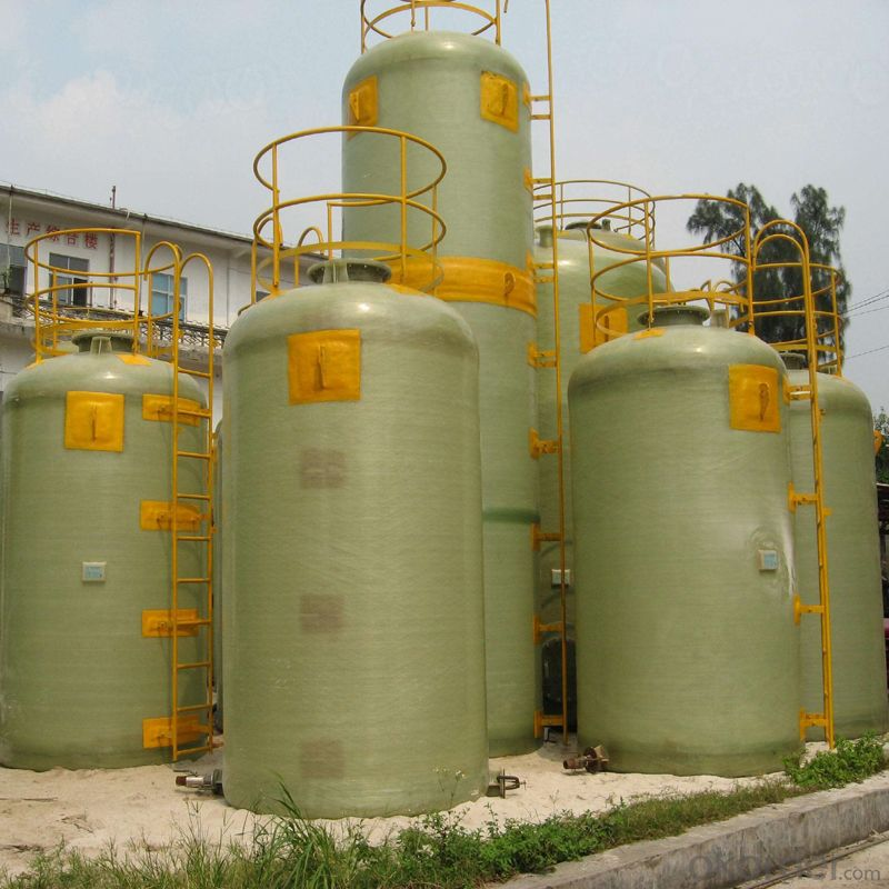 Vertical FRP Tank Composed of Chemical Barrier