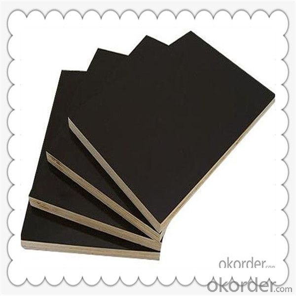 9mm Thickness Film Faced Plywood with Black Color Film