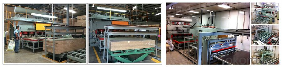 2400T 6X12 Short Cycle Melamine Laminating Hot Press Line