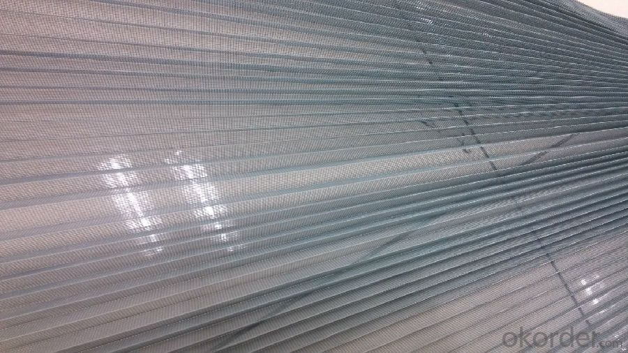 Plisse Insect Screen Mesh Polyester Pleated Mesh Fly Window Mesh