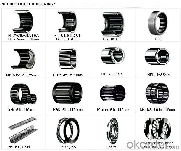 HK 2820 Drawn Cup Needle Roller Bearings HK Series High Precision