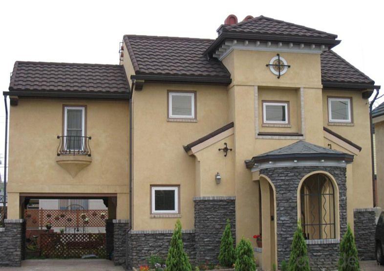 Curved Waterproof Colorful Metal Roof Tiles