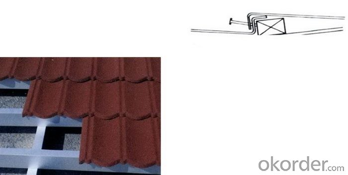 Hail-resistance Lightweight Stone-coated Metal Roof Tile