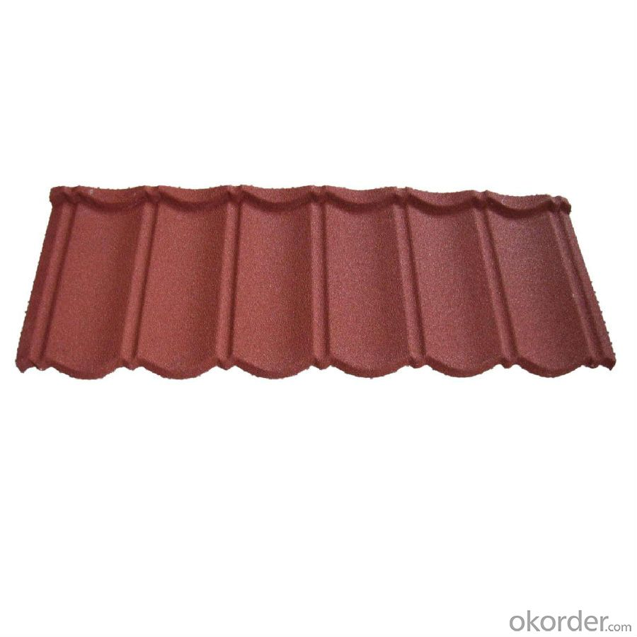 Colorful Ceramic Stone Coated Metal Roofing Tile