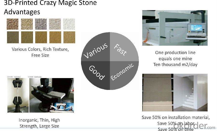 3D-Printing Construction Material Crazy Magic Stone Sand-sprayed No.0001-0002