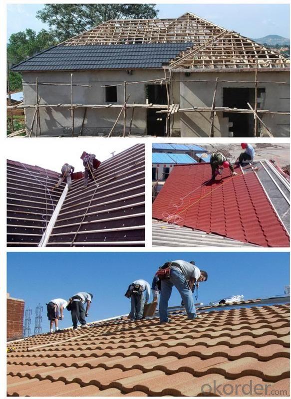 Color Sand Coated Metal Waterproof Roofing Sheet