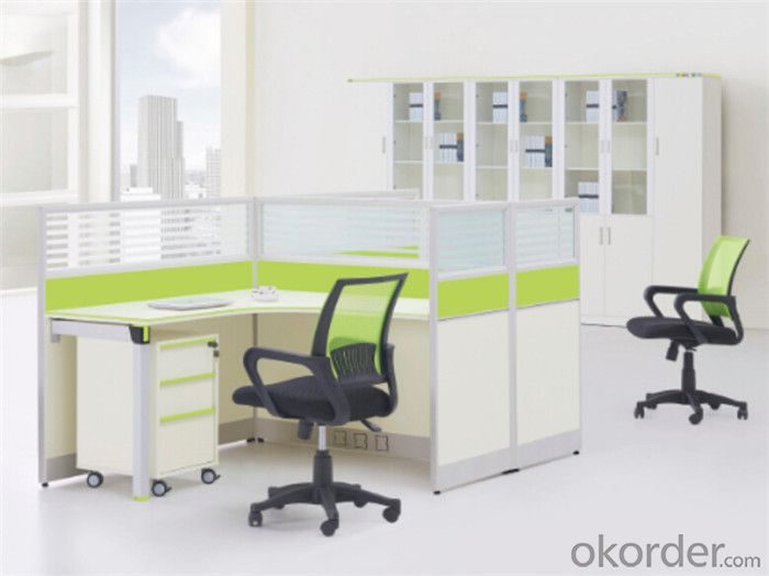 Steel and MFC Executive Desk for Four Persons
