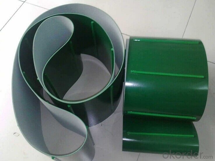 Green PVC Food Conveyor Belt Light Duty PVC Belts