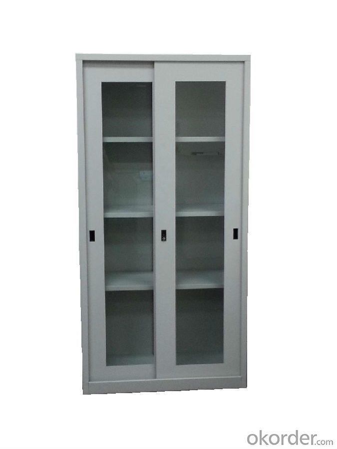 Glass File Cabinet Metal Material CMAX-0031
