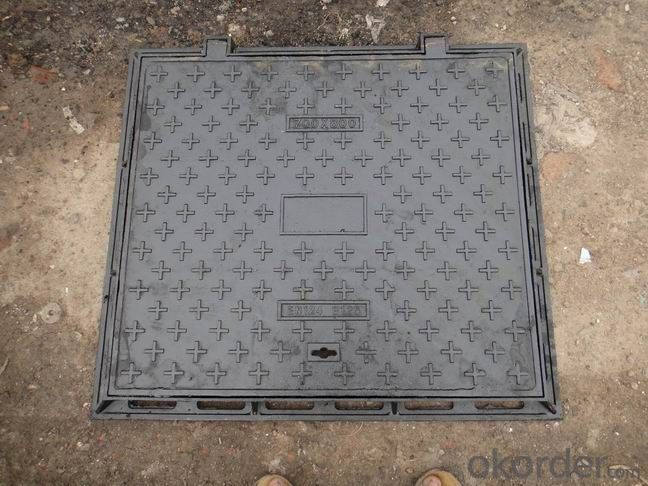 Manhole Cover Ductile Iron EN125 A15 on Sanitary