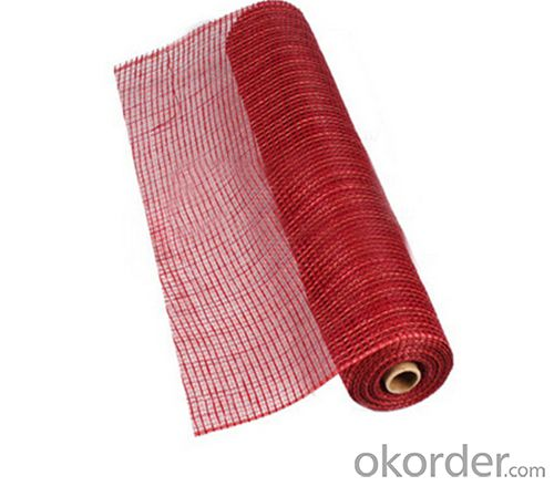 Wholesale Hot Solid Color Plastic Deco Poly Mesh For Christmas Gift Wrapping