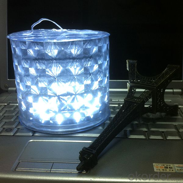 Diamond Design Waterproof White Led Camping Solar Lantern