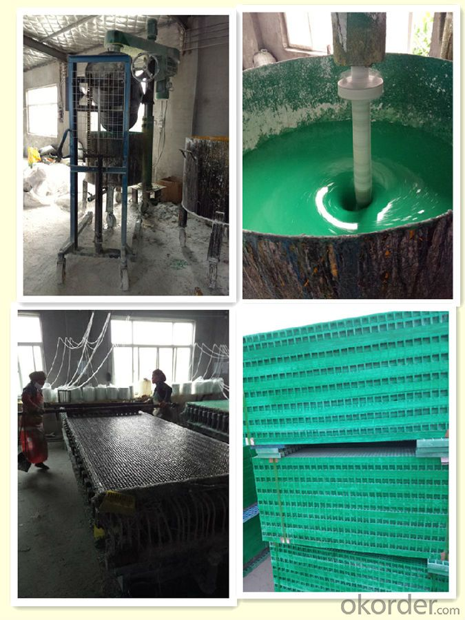 Corrosion Resistant and Fire Resistant FRP Grating with Modern Shape