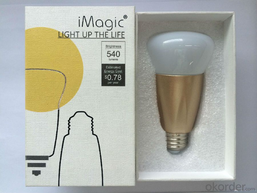Android IOS Control 6.5W Smart Lighting Bulb Bluetooth Smart Light