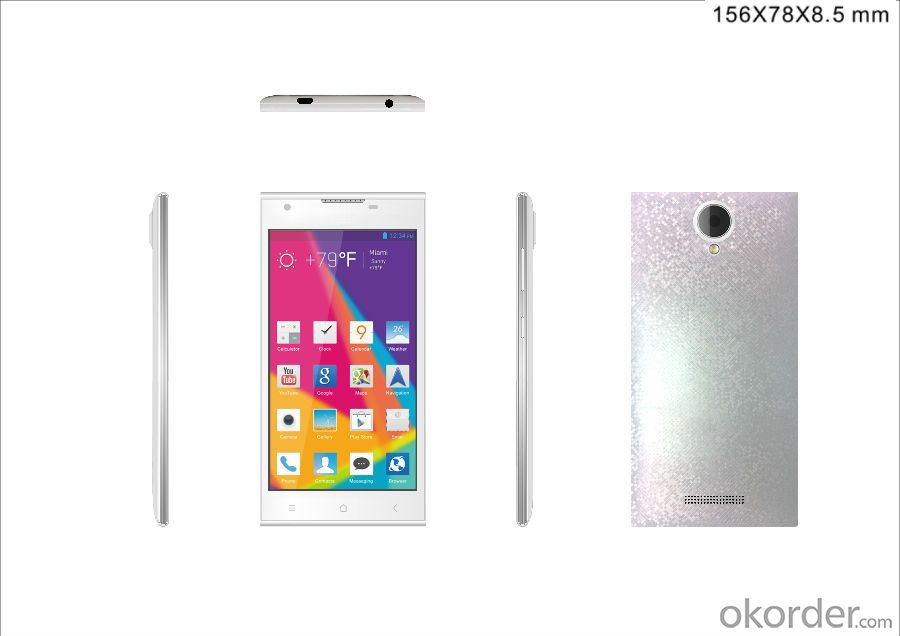 5 inch  IPS QHD Smartphone 540*960 SC7731 4 core 1.2GHz