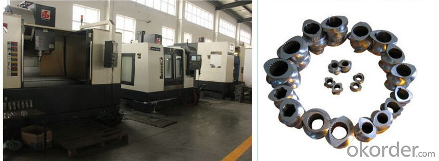 Bimetallic parallel twin screw for PVC extruder(WPC)