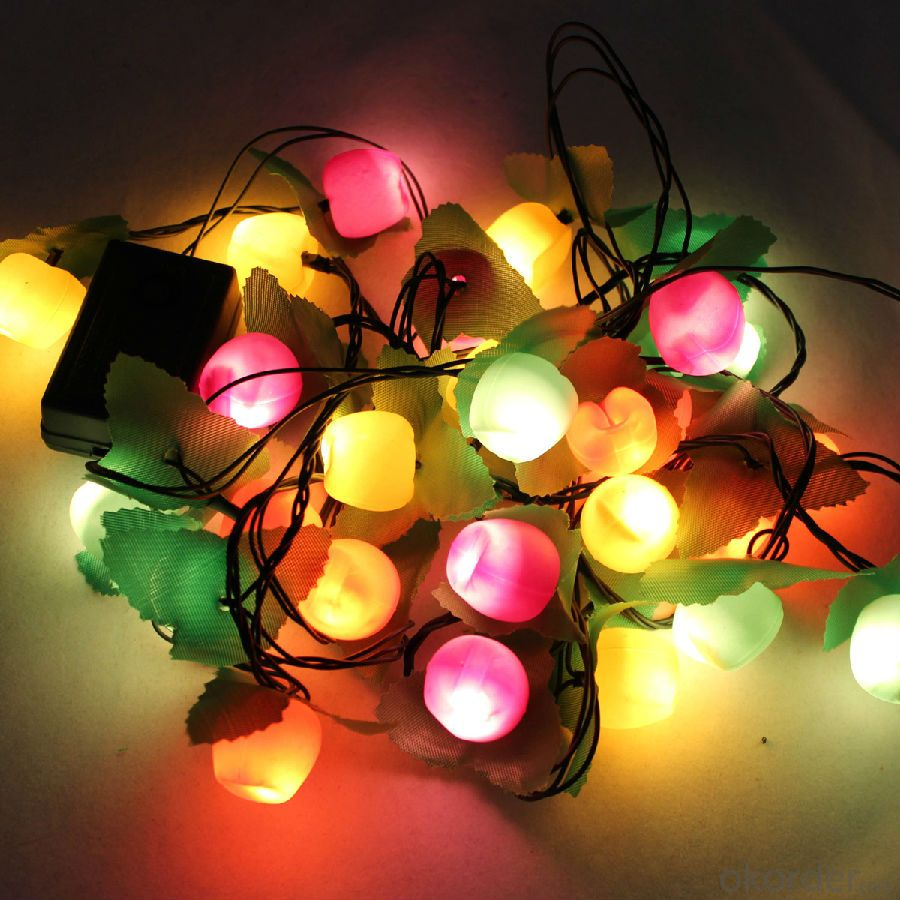 IP44 Wedding Party Festival Christmas Decoration Solar Powered LED String Lights