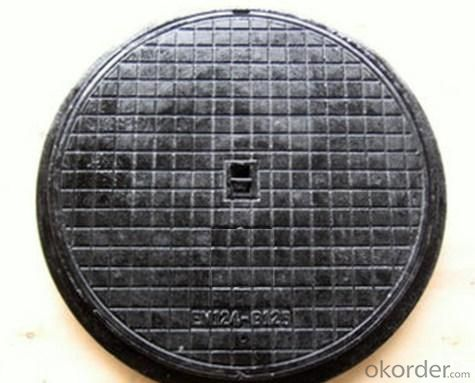 Manhole Cover with Ductile Iron Heavy Duty Round