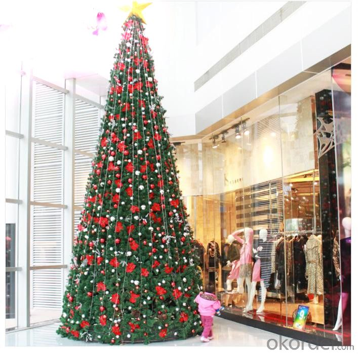 Christmas Tree Artificial Pine Needle Material with Metal Stand