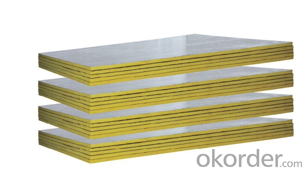 Exterior Wall Centrifugal Glass Wool Insulation Board