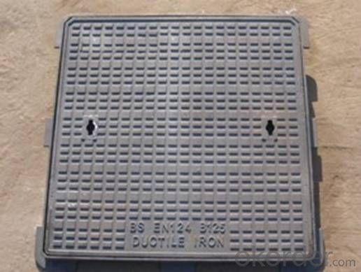 Manhole Cover 850*850*100 Ductile Iron ED124 D400