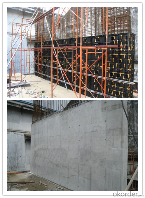 reusable wall panels for concrete construction